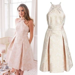 GAL MEETS GLAM Evelyn Sea Holly Jacquard DRESS 6